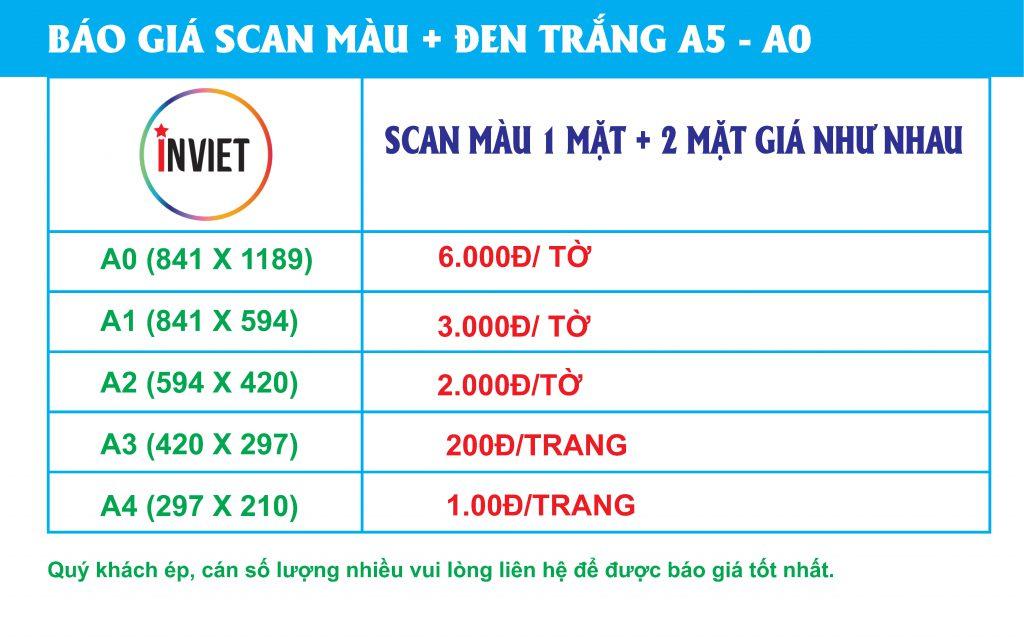 bảng báo giá scan giá rẻ nhất hà nội